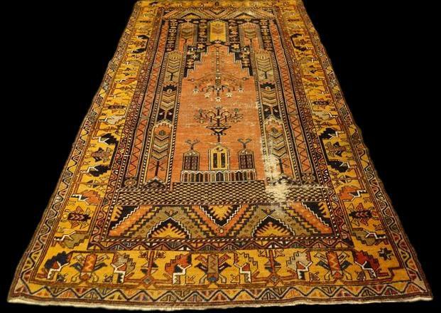 Tapis Yahyali de Prière Ancien, 118 cm x 228 cm, Anatolie, Turquie, début XXème