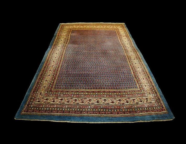 Tapis Persan Sarough-Mir, 215 cm x 317 cm, Iran, en laine nouée main vers 1970