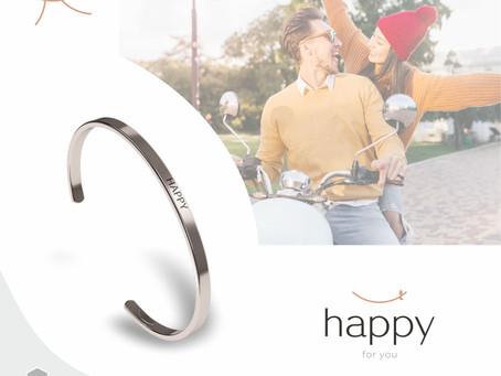 Браслет из стали от бренда «Happy» -  символично и стильно
