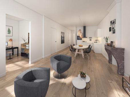 3D visuals van de appartementen