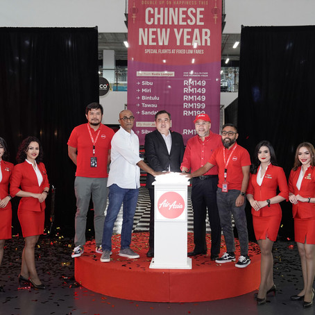 AirAsia adds special flights at fixed low fares for Chinese New Year