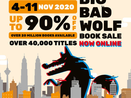 The Big Bad Wolf Book Sale, Goes Online 4 - 11 Nov 2020
