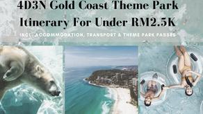 4D3N Gold Coast Theme Park Itinerary For Under RM2.5K (incl. Accom, Transport & Theme Park Passes)