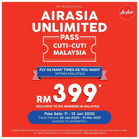AirAsia Launched Domestic Unlimited Pass for Cuti-Cuti Malaysia #supportlokal