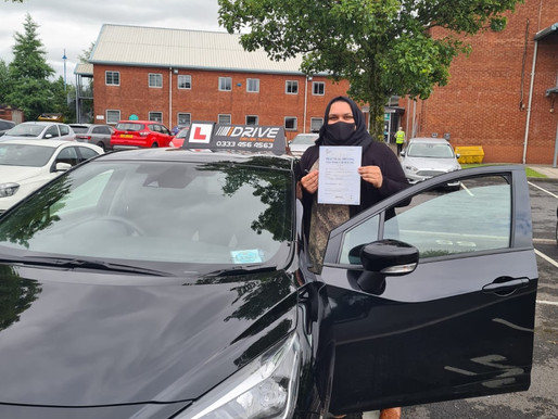Sidrah Kazmi passes her driving test in the UK with a wonderful drive