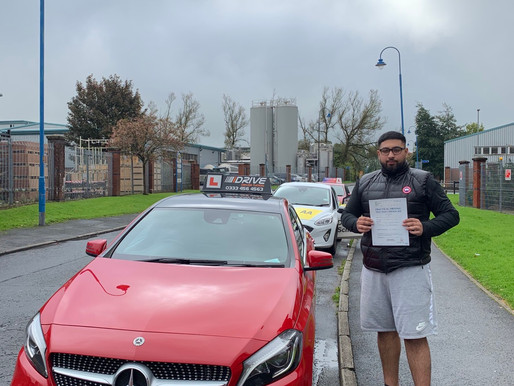Amaan passes with idrive driving school In Rochdale first time