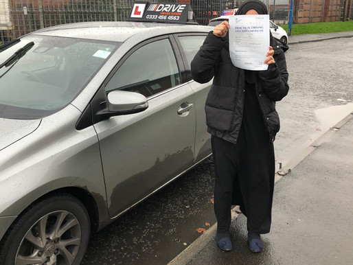 Haleema passed her driving test in Rochdale after taking driving lessons with our female driving ins