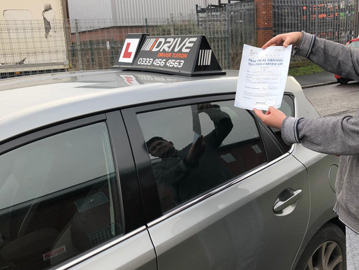 Syed passes driving test in Rochdale after taking driving lessons in manual. iDrive Rochdale