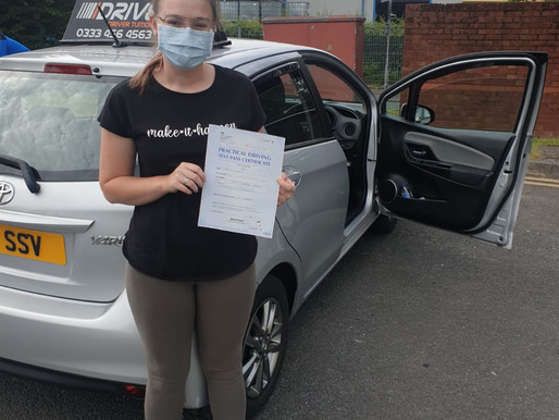 Molly passes in Rochdale in a manual car first time with iDrive