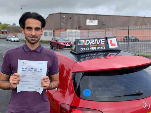 David Gordon passes in Rochdale after taking Manual Driving Lessons