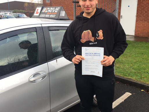 Another pass in Rochdale after Eren passed his test after learning to drive with idrive