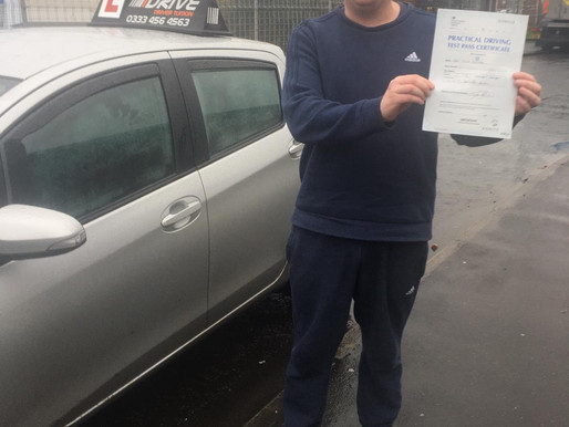 Well done mark on passing your driving test in Rochdale