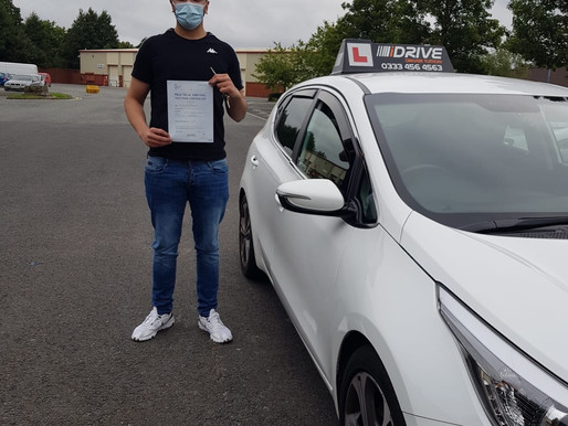 Another first time pass. Well done to Rehman for passing his driving test in Rochdale