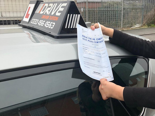 Another first time pass. Pass first time with our female driving instructor. Take driving lessons