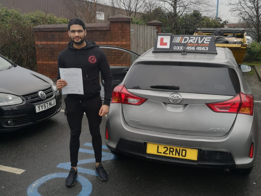 First time pass in Rochdale with iDrive Driving School. Take manual driving lessons now.