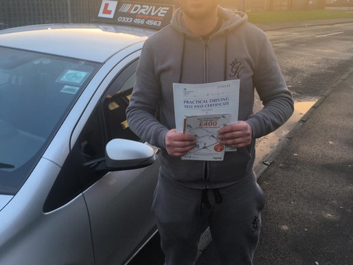 Omar passes his driving test in Rochdale taking manual driving lessons. Learn to drive now and pass