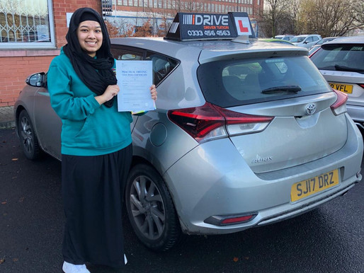 Another first time pass in Rochdale with our female driving instructor doing manual driving lessons