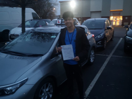 Joshua passes driving test in Rochdale after taking manual driving lessons