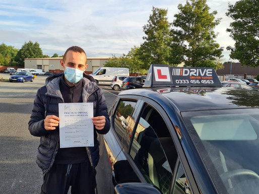 Michael passes his driving test in Rochdale after taking manual driving lessons