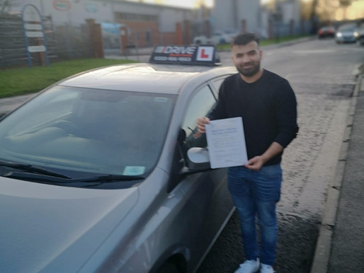 Usman passes driving test in Rochdale after taking driving lessons with our instructor.