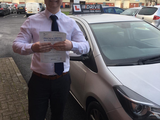 Another pass after taking manual driving lessons in Rochdale for Samuel
