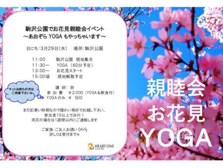 お花見YOGA♪〜