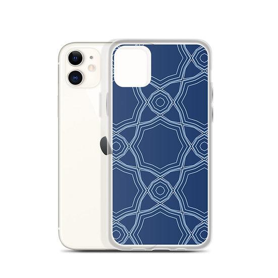 iPhone Case Blue Star Line Art