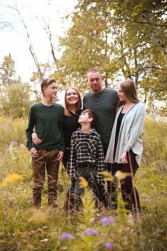 Uxbridge Photographer Fall Family Photo