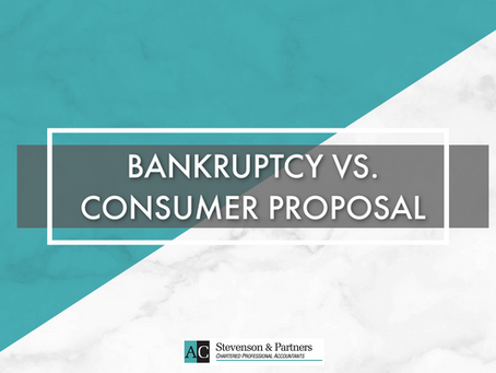 BANKRUPTCY VS. CONSUMER PROPOSAL / Faillite vs. Proposition