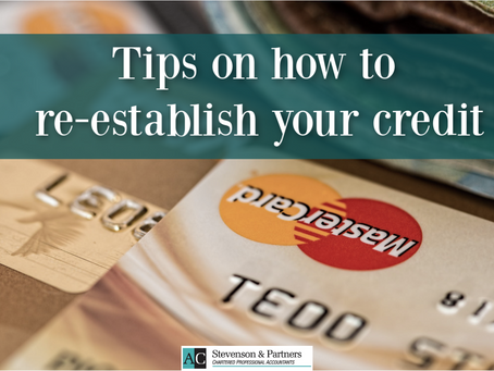 How to re-establish your credit score