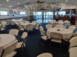 Interior w/white folding chairs