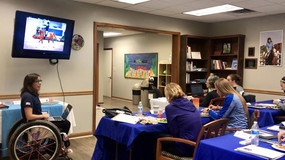 Speaking for the American Hippotherapy Association's course