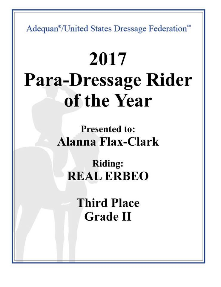 Paradressage Rider of the Year