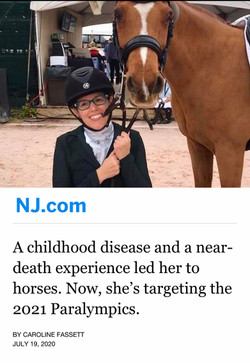 A childhood disease and a near-death experience led her to horses. Now, she's targeting the 2021 Par
