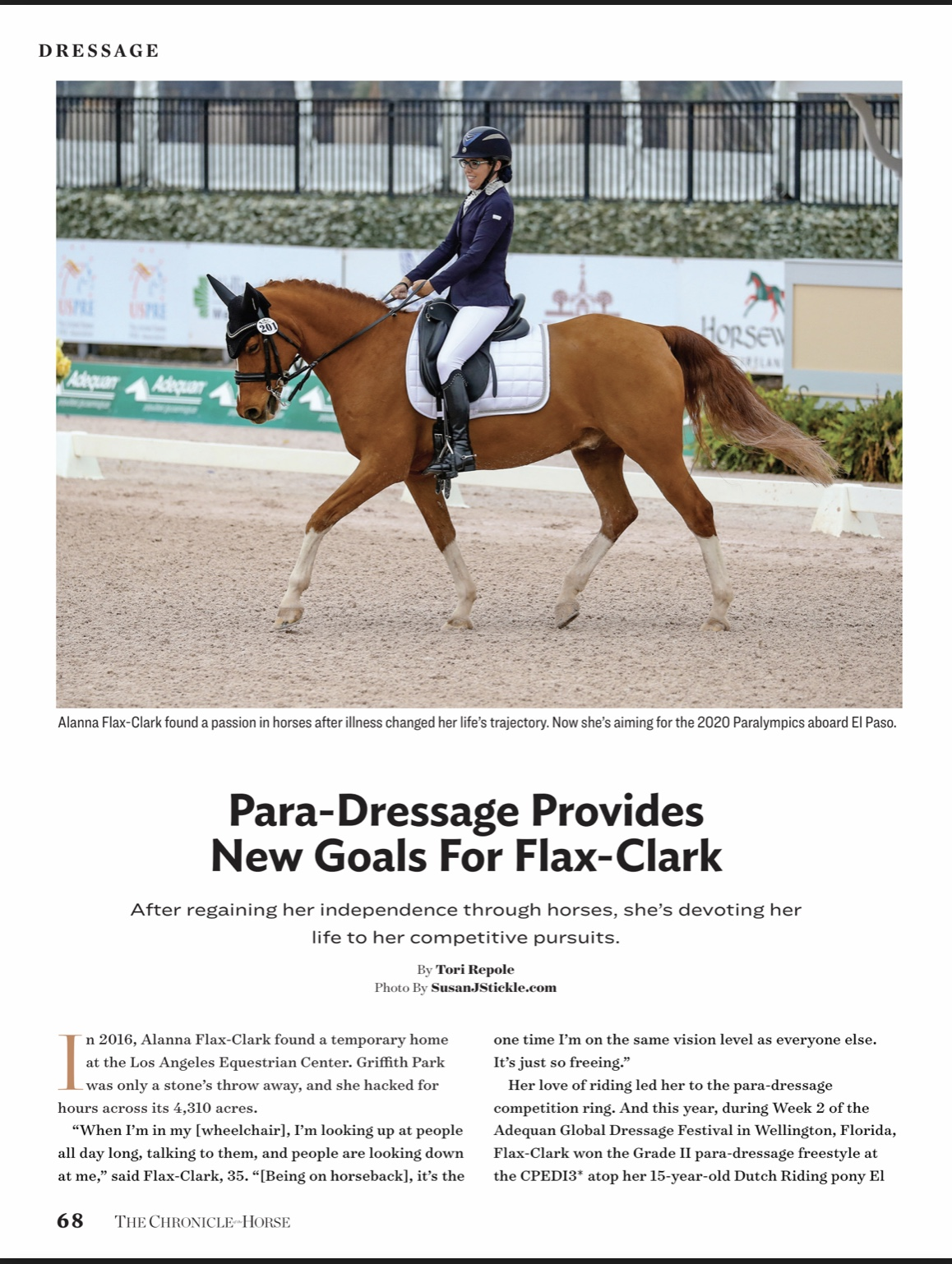 Para-Dressage Provides New Goals for Flax-Clark