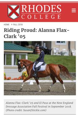 Riding Proud: Alanna Flax-Clark '05