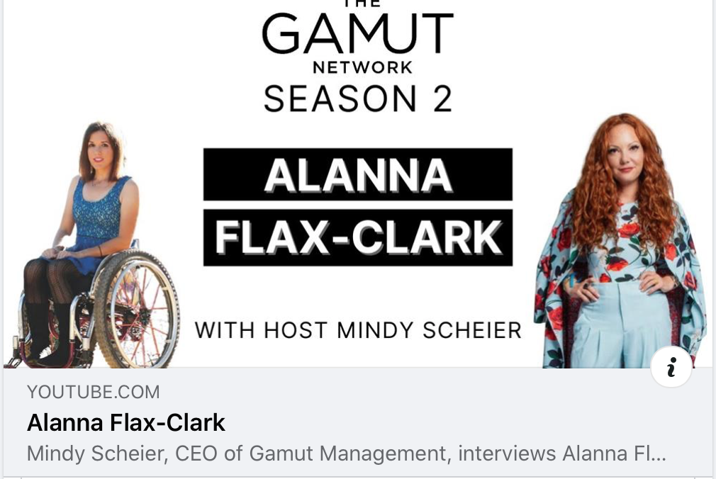 Mindy Scheier, CEO of Gamut Management, interviews Alanna Flax-Clark. Today Alanna shared all about