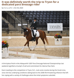 It was definitely worth the trip to Tryon for a dedicated para dressage rider