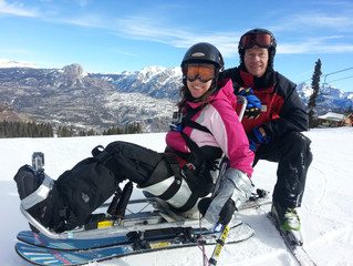 Skiing with Adaptive Sports Association