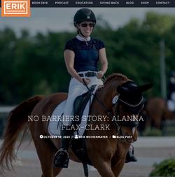 NO BARRIERS STORY: ALANNA FLAX-CLARK