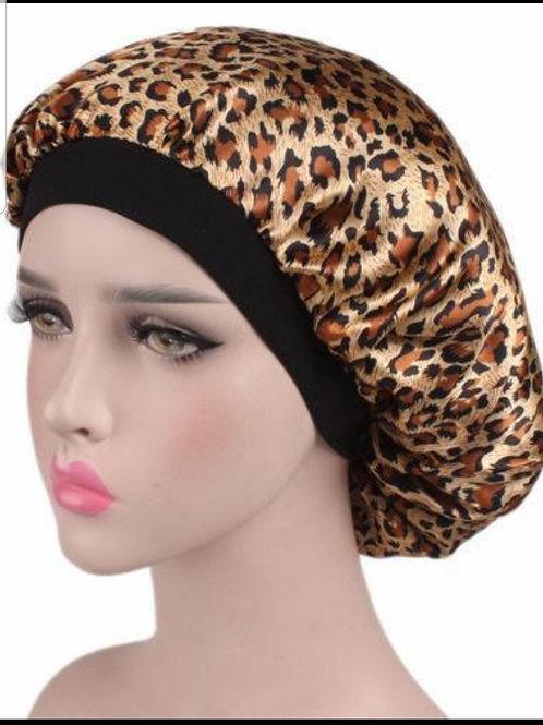 Leopard Print Bonnet