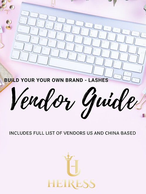 BYOB Lash Vendor Guide