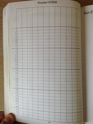 Page Tracker mensuel