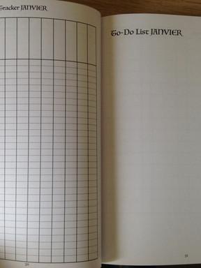 Tableau de tracker mensuel & To-do list