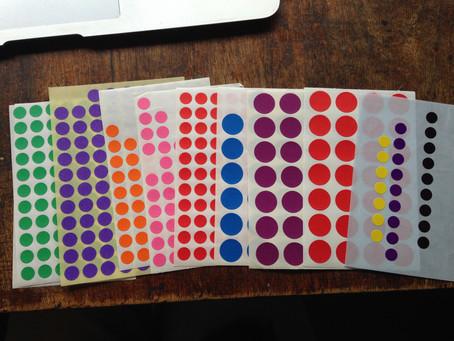 Mon BuJo de feignasse : le code couleur et les gommettes (4)
