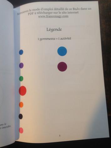 Le code couleur de mes activités