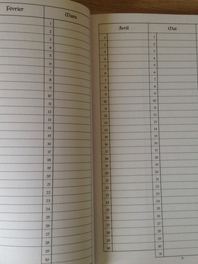 Page Calendrier annuel