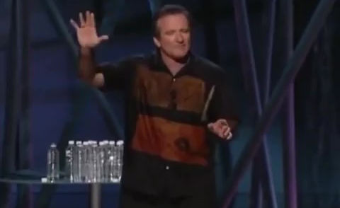 The late Robin Williams and his two minute