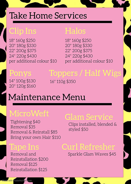 Service Menu 2 - Made with PosterMyWall