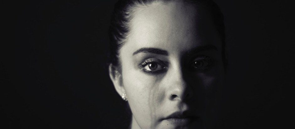 Is a person in tears depressed?